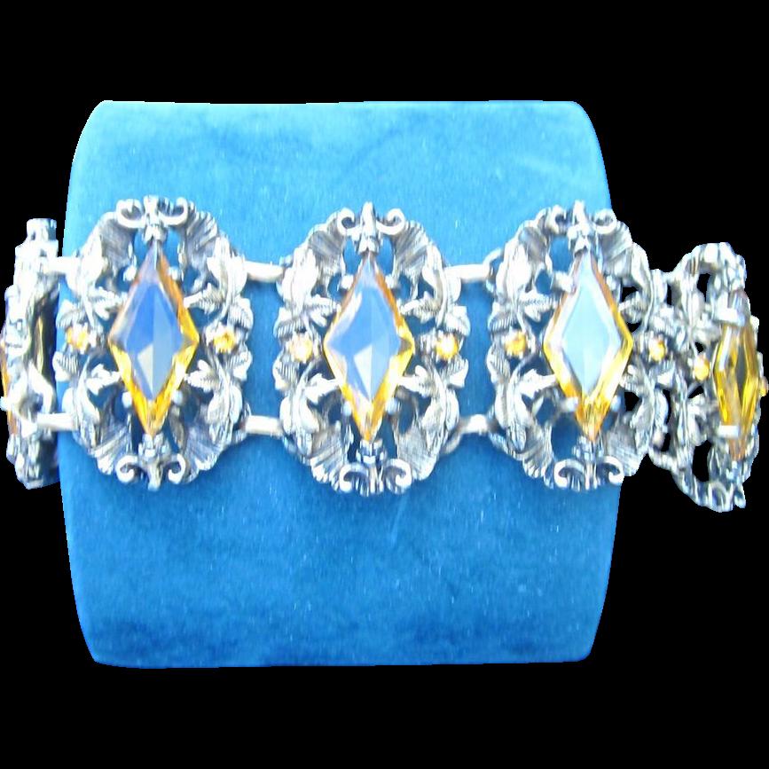 Huge Vintage Etruscan Style Bracelet