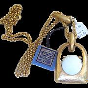 Lucien Piccard Vintage Original Tag Bold Necklace