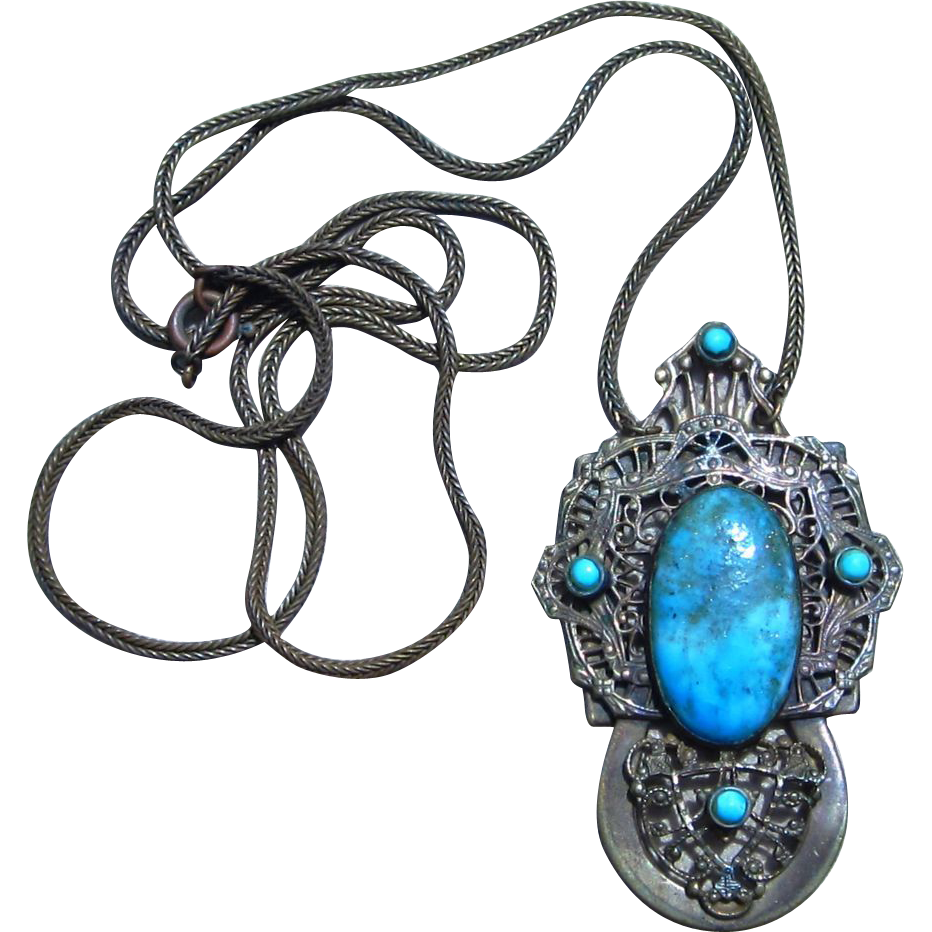 Czech Large Pendant Necklace