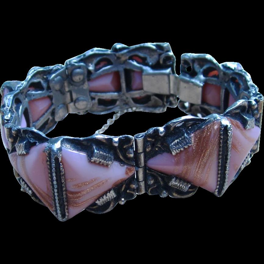 Selro Style Pink Vintage Chunky Bracelet