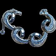 Schiaparelli Rare Vintage Rhinestone Signed Vintage Bracelet