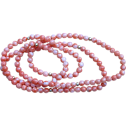 Coral and 14k Gold 32 inch Vintage Necklace