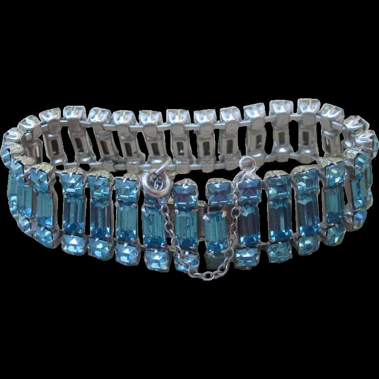 Weissco NY- Signed Vintage Rhinestone Bracelet