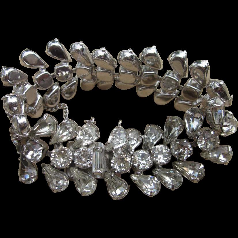 Eisenberg- Signed Vintage Fabulous Rhinestone Bracelet