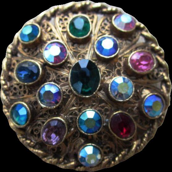 Super Vintage Colorful Brooch