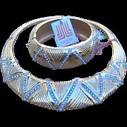 Lanvin Unworn Runway Necklace and Bracelet