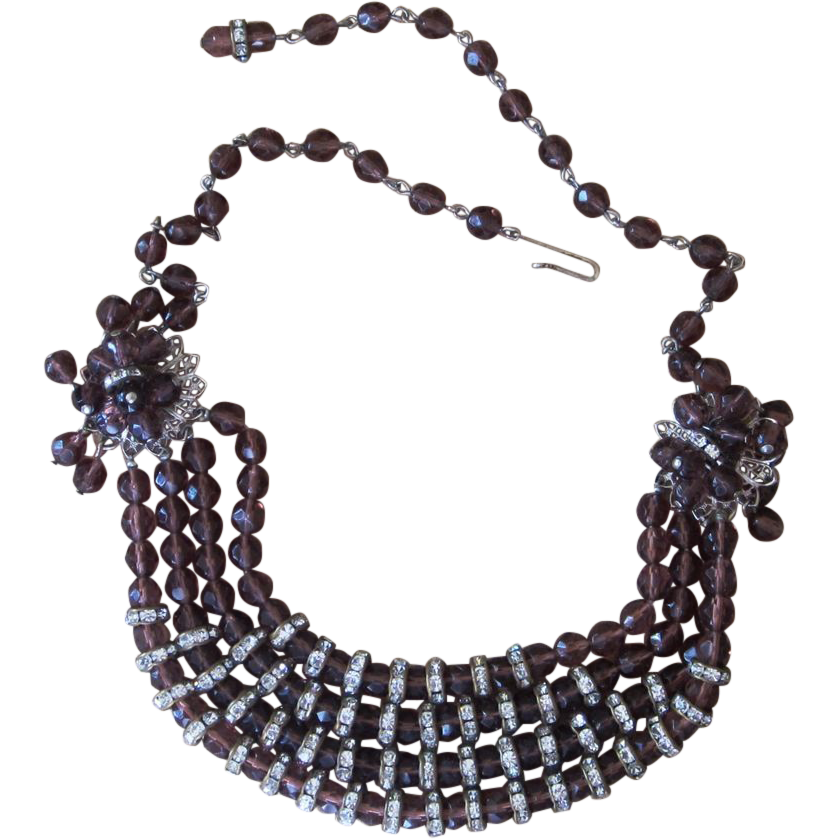 Extraordinary Rondelle and Beaded Vintage Necklace