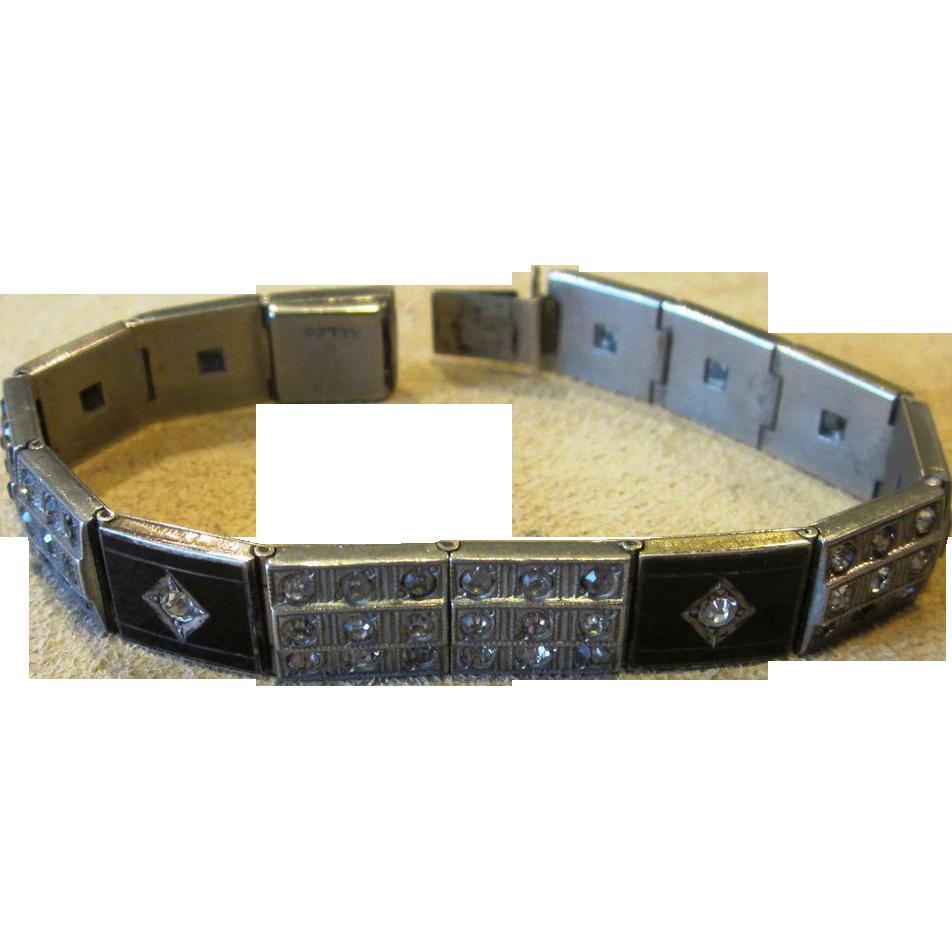 Deco Signed Allco Line  Vintage Bracelet