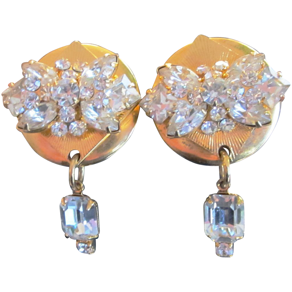 Sorrelli  Vintage Rhinestone Super Earrings