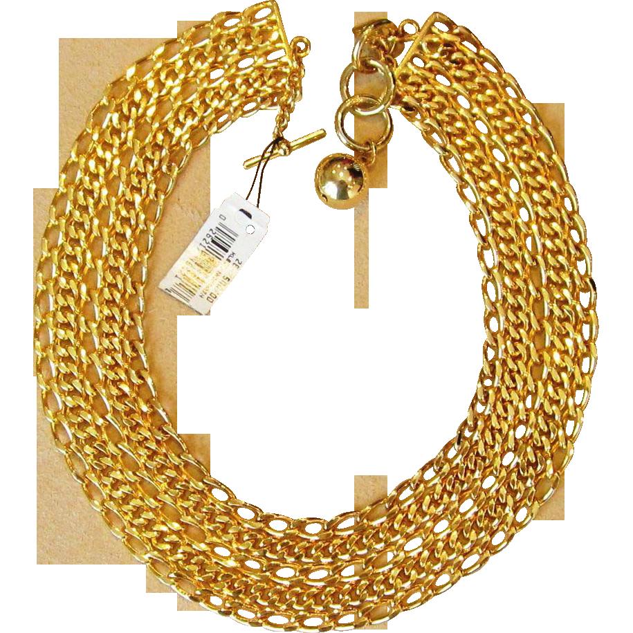 Anne Klein Runway  Vintage Wide Collar Necklace Unworn with Tags