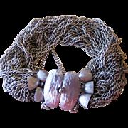 Vendome- Silver Tone Signed Vintage Slinky Bracelet