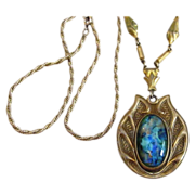 Stunning and Unusual Czech  Large Pendant Necklace