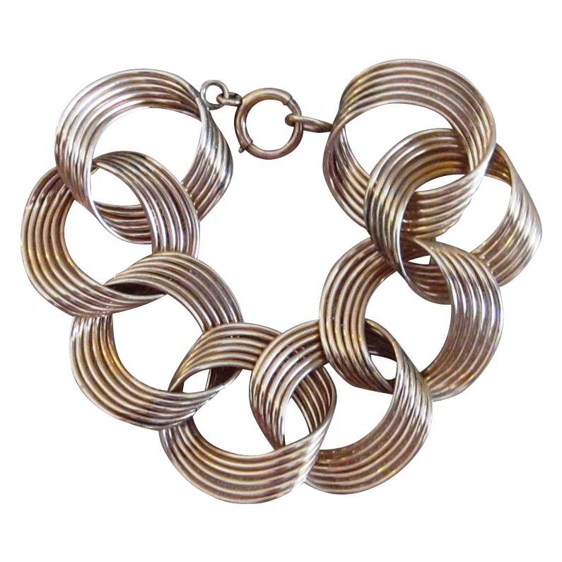 Modernist Gold Filled Vintage Bracelet