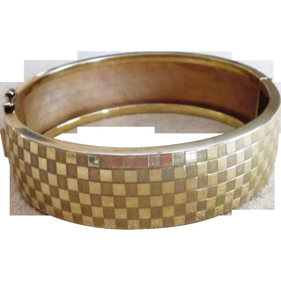 Signed Gold Filled Vintage Bracelet