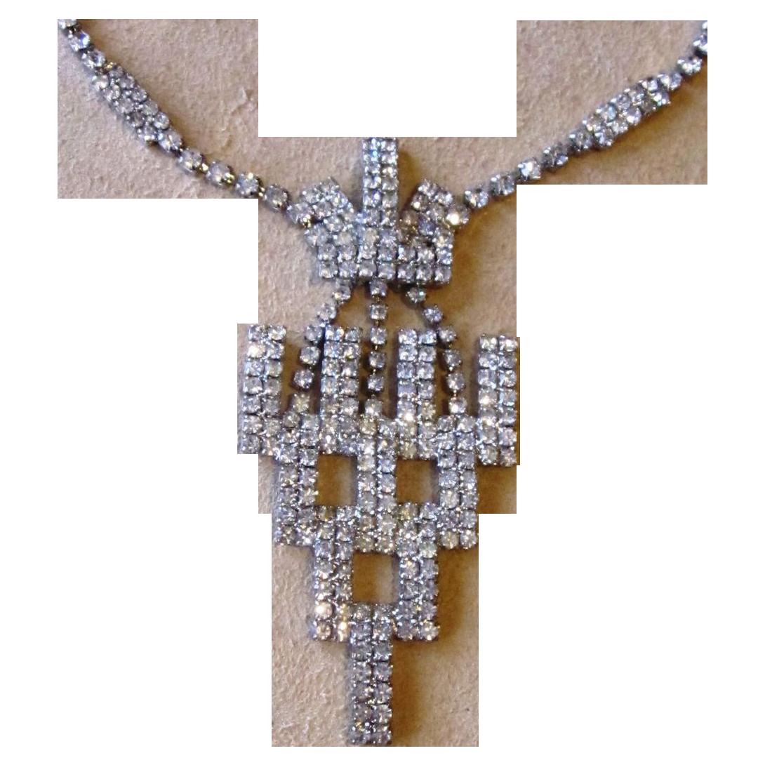 Unique Vintage Rhinestone Necklace
