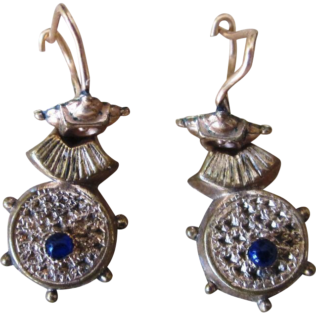 Victorian Etruscan Wire Earrings