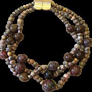 Jay Feinberg .. Strongwater  Multi-strand Vintage Designer Signed Necklace