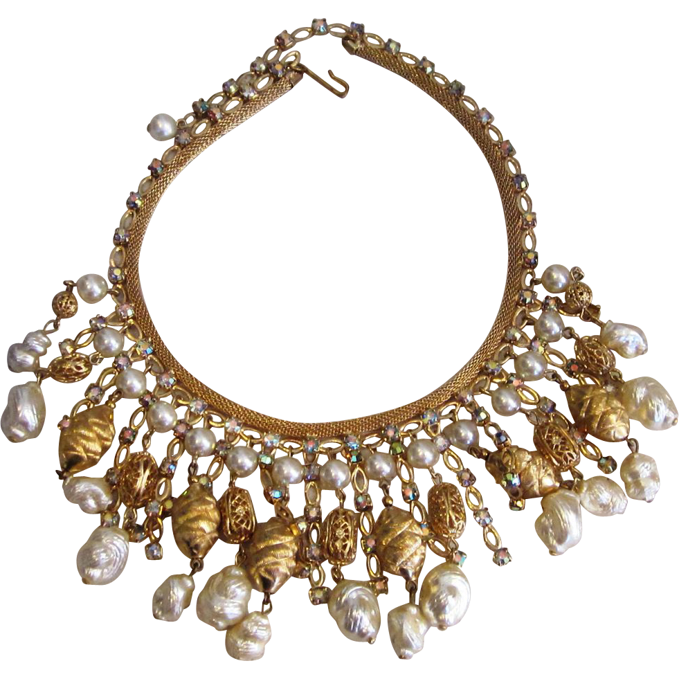 Huge Designer Bib Runway Necklace