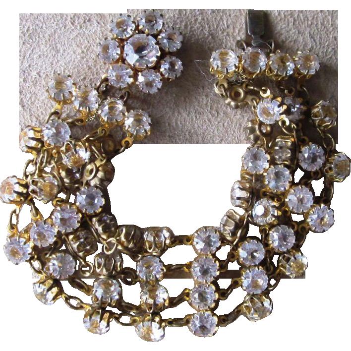 Amazing Unique Vintage Rhinestone Bracelet