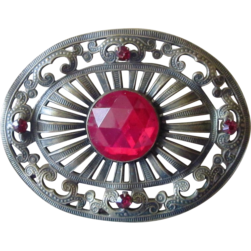 Victorian Sash Pin or Brooch Large and Stunning