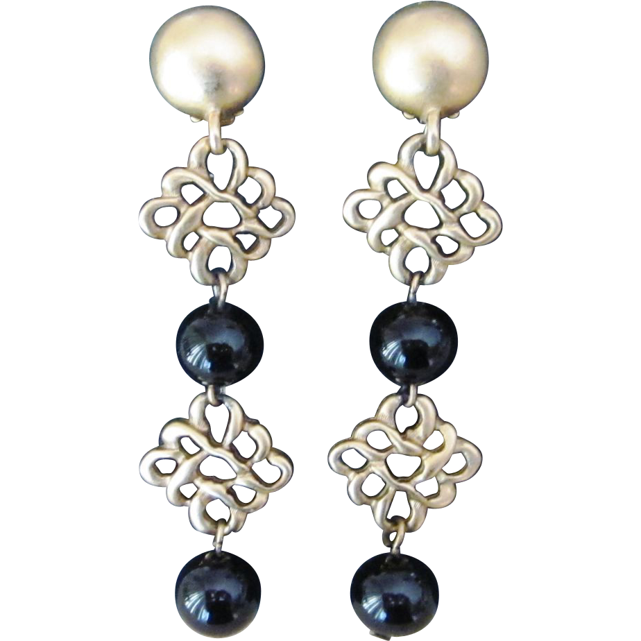 Donna Karan DKNY Long Vintage Earrings