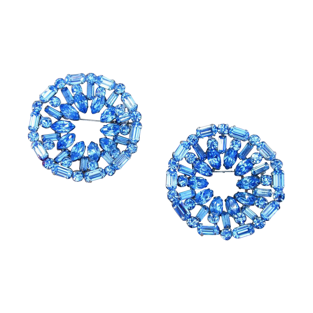 Two Vintage Quality Large Stunning Brooches