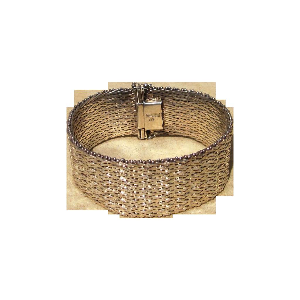 Sterling  72 Grams Vintage Wide Bracelet