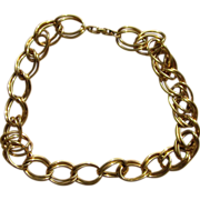 Napier Double Curb Chain Heavy Vintage Signed Necklace