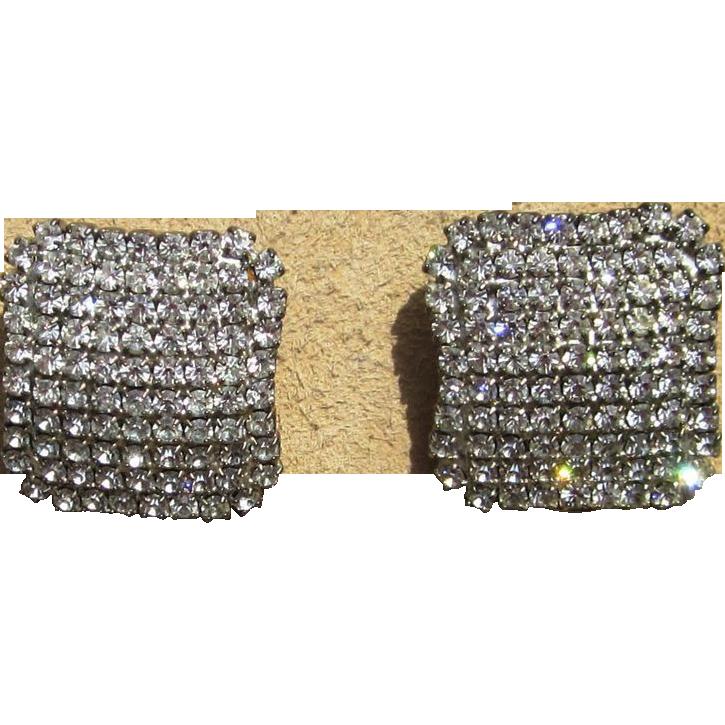 Stunning Vintage Rhinestone Earrings Elegant and Quality