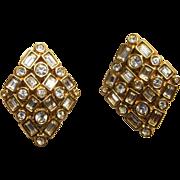 Swarovski Swan Vintage Rhinestone Earrings