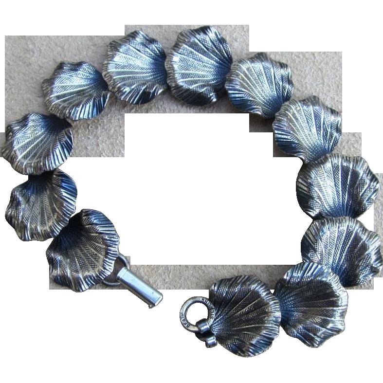 Beau Sterling Vintage Lilly Pad Bracelet