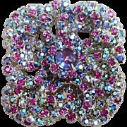 Rifas Designer Large Vintage Brooch Stunning Colors