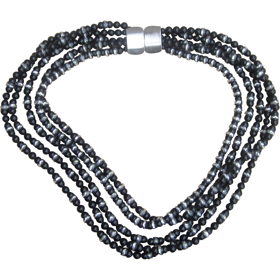 Jay Feinberg Haute Couture  Multistrand Vintage Runway Necklace