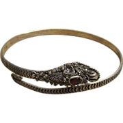Sterling Silver Ornate Dragon Vintage Bracelet