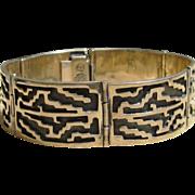 Signed Sterling Silver Mid Century Modern Vintage Bracelet