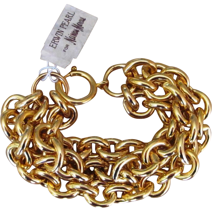 Erwin Pearl Old Stock Chunky Vintage Bracelet