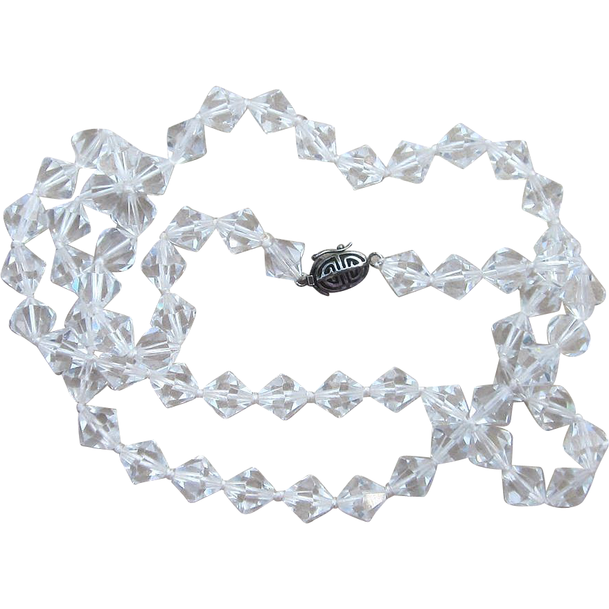 Stunning Swarovski Crystal Long Vintage Necklace