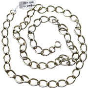 Erwin  Pearl Old Stock 34 Inch Long Link Vintage Necklace