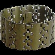 Edgy and Chunky Vintage Brass Bracelet