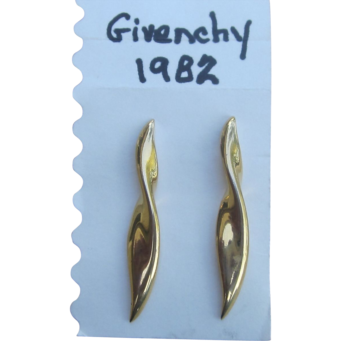 Givenchy 1982 Signed Designer Vintage Pierced  Earrings
