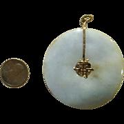 Large 2 1/8 Jade Vintage Pendant