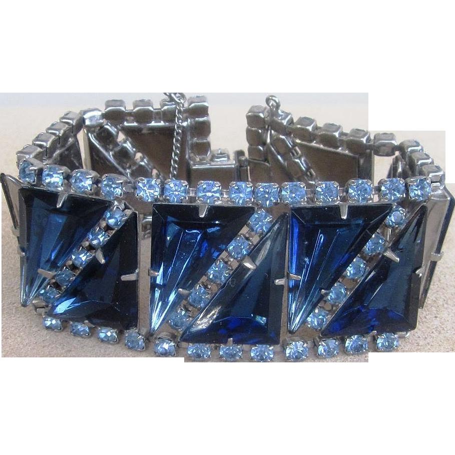 Bold and Beautiful Vintage Rhinestone Bracelet