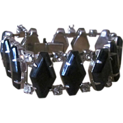 Chunky Vintage Rhinestone Bracelet