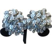 Glass Crystal Pom Pom Quality Vintage Earrings