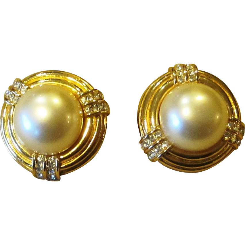 Ciner fabulous faux pearl and rhinestone signed vintage for Best place to sell gold jewelry in chicago