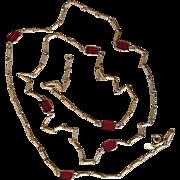 Corocraft 52 Inch Signed Vintage Sautoir Station Necklace