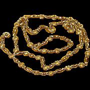 St John 54 Inch Crystal Bezel Station Vintage Sautoir Necklace