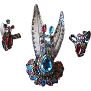 Original by Robert Rare and Amazing Sterling Vintage Brooch and Earrings