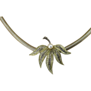 Theodor Fahrner Rare Sterling and Signed Marcasite German Deco Necklace