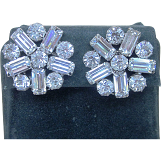 WEISS Super Vintage Elegant Signed Earrings